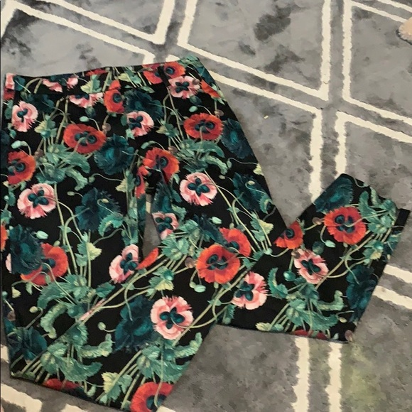 H&M Pants - H&M Floral ankle trousers